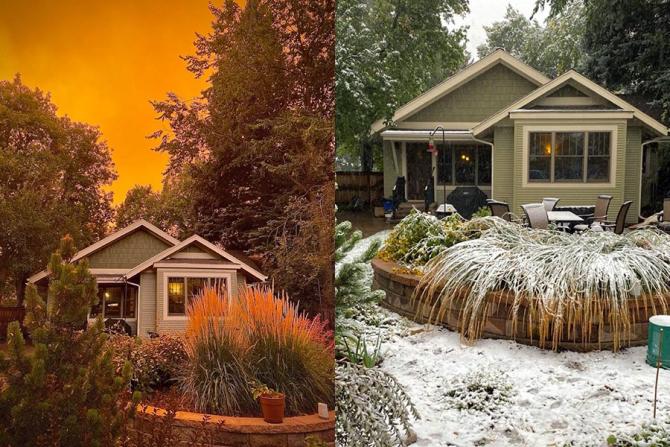 Colorado a trecut în numai 24 de ore de la caniculă la zi de iarnă