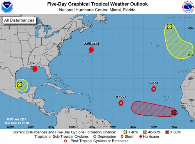 Record de uragane în Atlantic