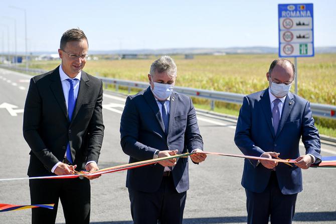 Péter Szijjártó, Lucian Bode și Bogdan Aurescu / Foto: MTI