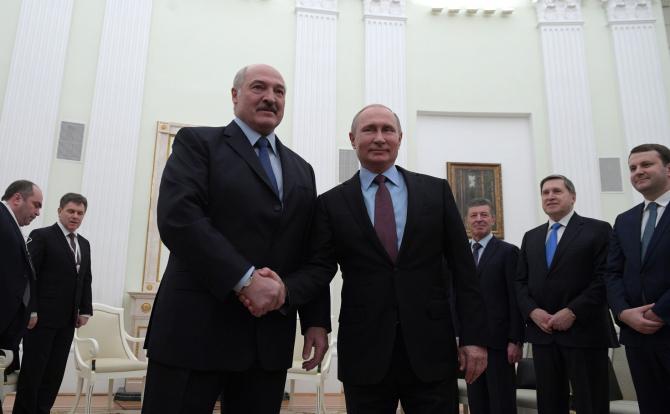 Alexandr Lukașenko și Vladimir Putin