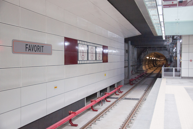 Stația de metrou Favorit