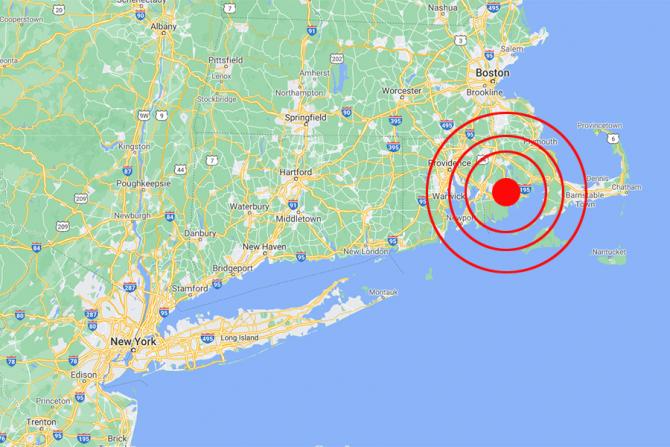 Cutremurul a avut loc în apropierea coastei statului Massachusetts