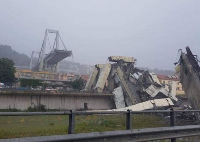 În urma prăbușirii podului Morandi au murit peste 40 de oameni