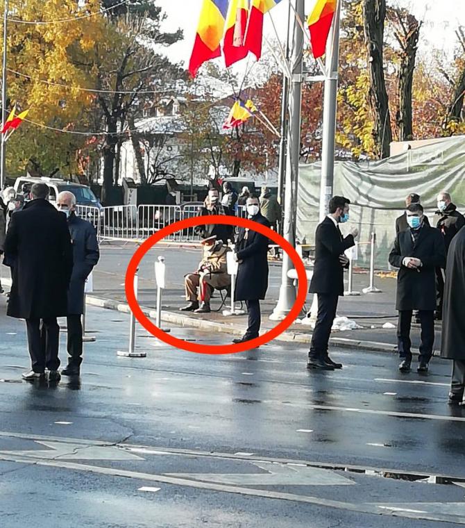 Imagine DUREROASĂ cu un veteran de Ziua Națională