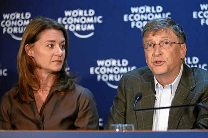 Bill Gates alături de soția sa Melinda Gates