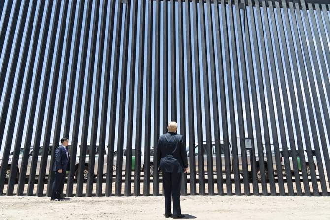 Zidul a fost marea promisiune a lui Donald Trump