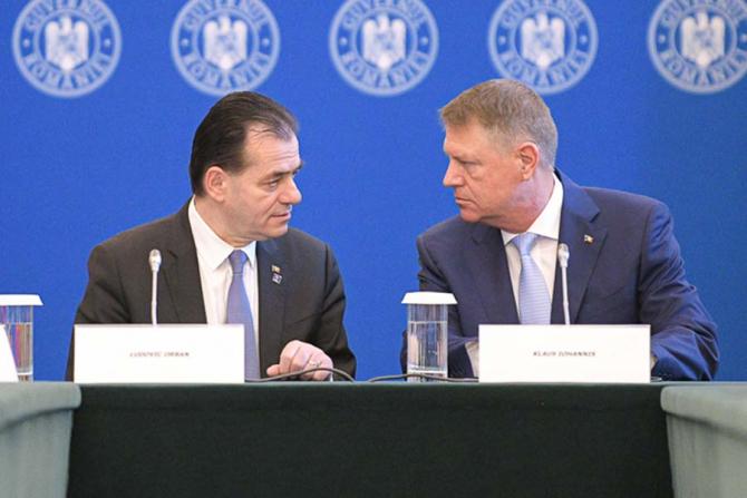 Ludovic Orban și Klaus Iohannis
