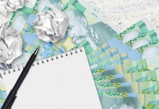 Moneda naţională este cotată, în raport cu euro, la 4,9257 lei.