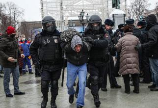 Acțiuni de protest se desfășoară în întreaga Rusie