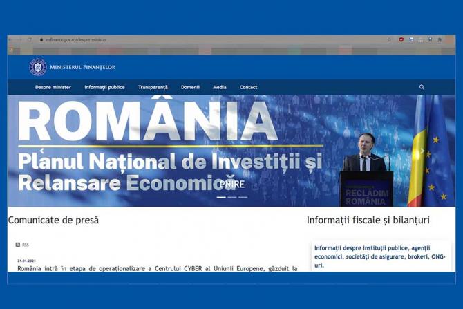 Pe site-ul Ministerul Finanțelor tronează încă Florin Câțu