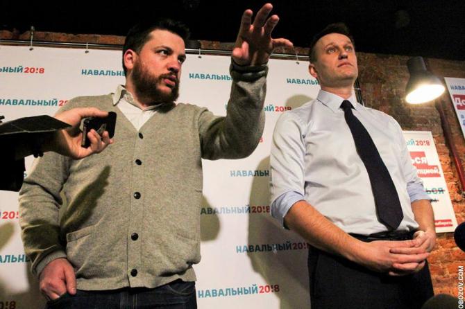 Leonid Volkov și Aleksei Navalnîi