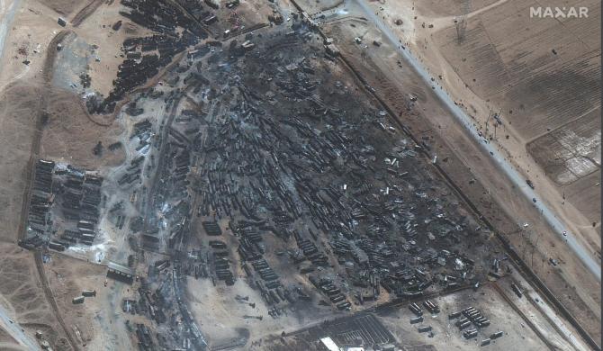 Rapoartele de după incendiu au indicat că cel puțin 500 de camioane-cisternă de petrol și gaze naturale au ars în deflagrație.
