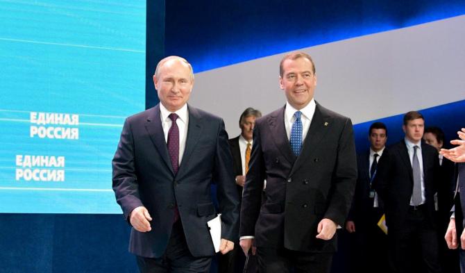 Vladimir Putin și Dmitri Medvedev