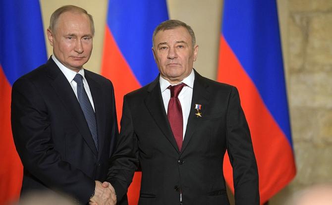 Vladimir Putin și Arkadi Rotenberg / Foto: kremlin.ru