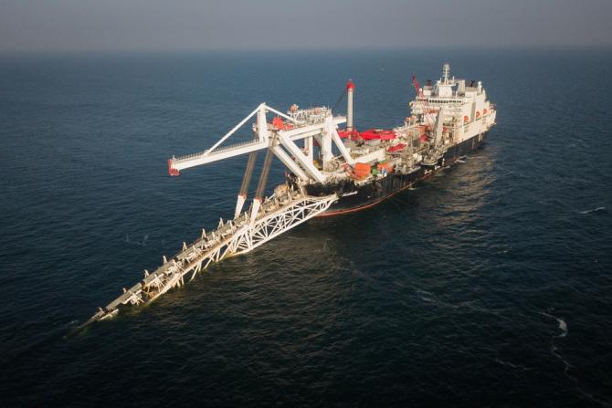 Construcția gazoductului Nord Stream 2, sursă foto: Nord Stream 2 official website