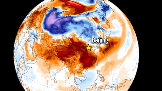 """Un val neobișnuit de aer cald """"perpelește"""" China și Coreea de Sud"""