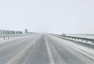 Ninge pe o porțiune din autostrada A1