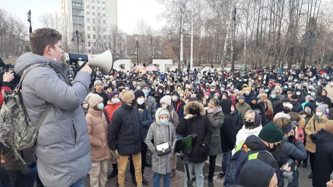Proteste masive în Rusia pentru Bavalnîi