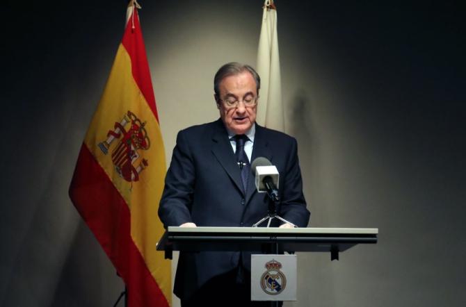 """Perez a subliniat că Real Madrid a pierdut """"400 de milioane euro"""" din cauza crizei sanitare generate de pandemia de coronavirus, iar factura se ridică la """"cinci miliarde de euro"""" pentru cluburile europene."""