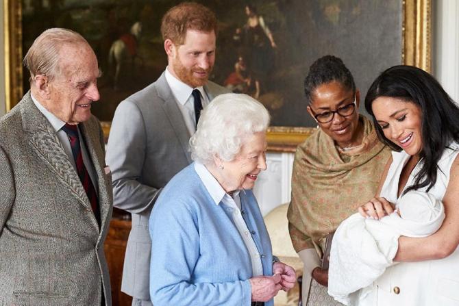 Prințul Philip, regina Elisabeta a II-a, Harry, Meghan Markle