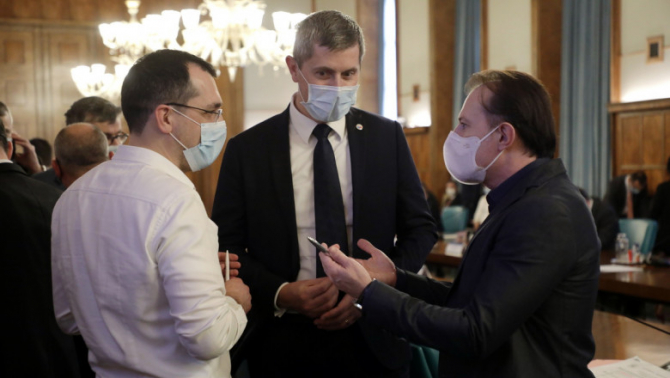 Vlad Voiculescu, Dan Barna și FLorin Cîțu