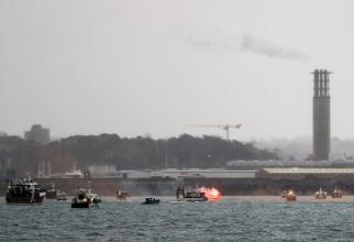 Pescarii francezi intenționau să creeze o blocadă, în pofida faptului că au negat acest lucru