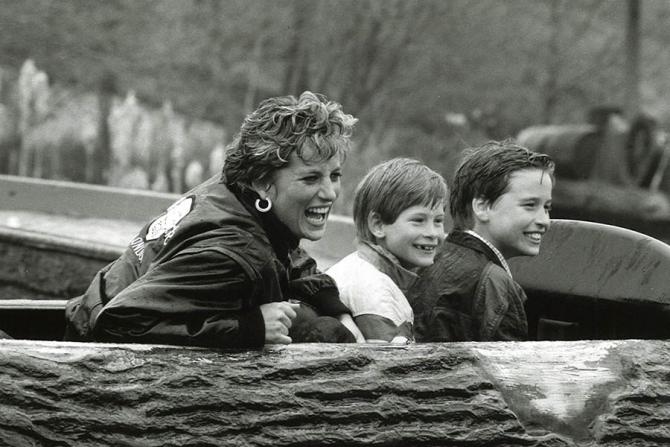 Prințesa Diana, Harry și William