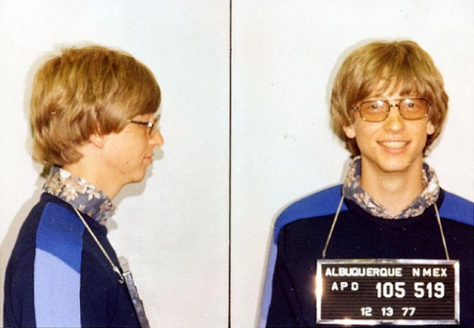 Bill Gates, arestat în 1977 pentru o infracțiune în trafic