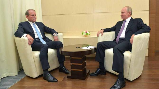 Viktor Medvedciuk și Vladimir Putin