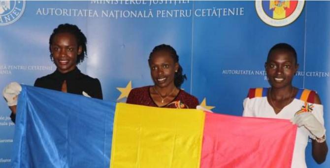 Sportivele din Kenya: Joan Chelimo (31 de ani), Stella Ruto (26 de ani) şi Delvine Meringor (29 de ani)