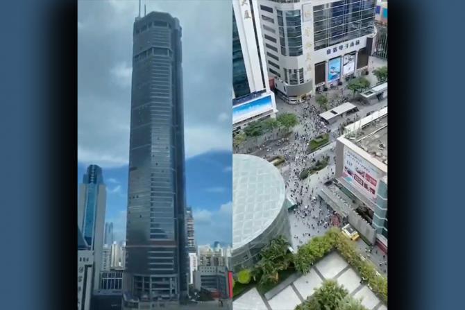 China: Vântul a fost cauza balansului turnului din Shenzhen