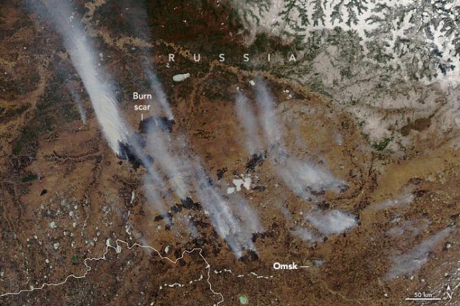 Incendii în Siberia. Imagini din aprilie 2021