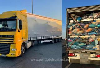 Poliția de Frontieră a oprit opt TIR-uri încărcate cu deșeuri
