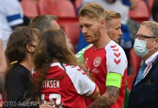 Partenera de viață a lui Christian Eriksen a fost consolată de Simon Kjaer