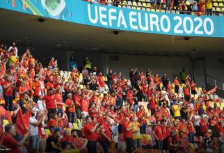 Suporterii Macedoniei de Nord pe Arena Națională.