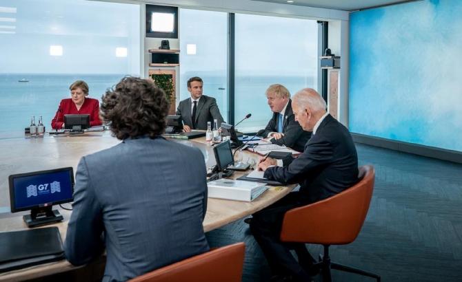 La una dintre ședințele G7