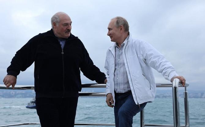 Aleksandr Lukașenko și Vladimir Putin la Soci. 29 mai, 2021. Foto: Președinția rusă.