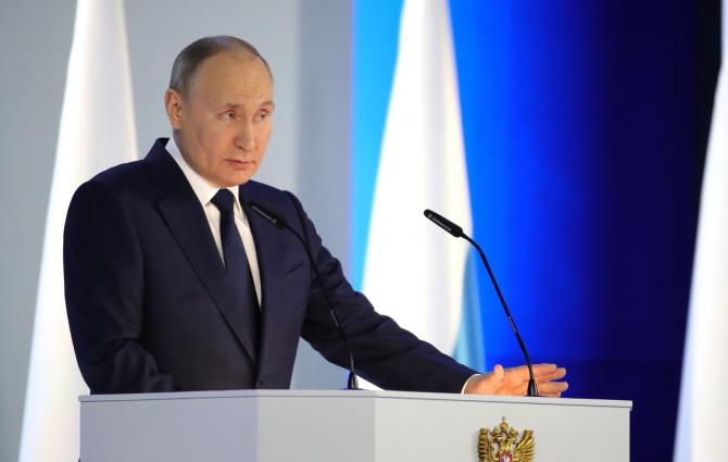 Un mesaj neobișnuit pentru președintele Rusiei