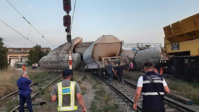Accident feroviar grav la Fetești
