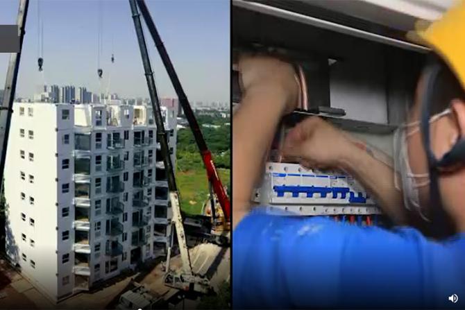 Vom locui în blocuri produse în China