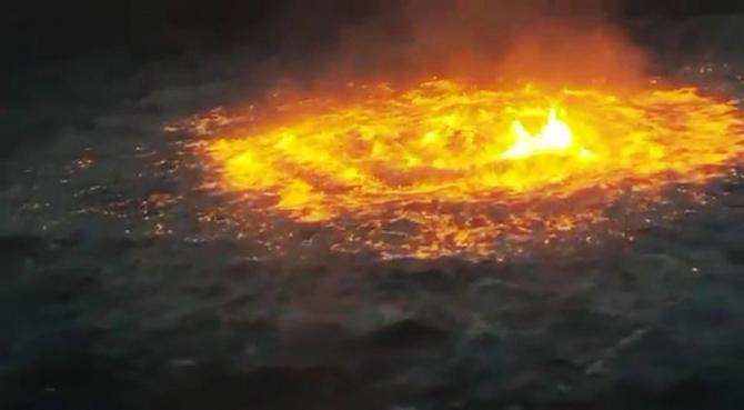 Nu s-a explicat de ce a ars pe suprafața apei