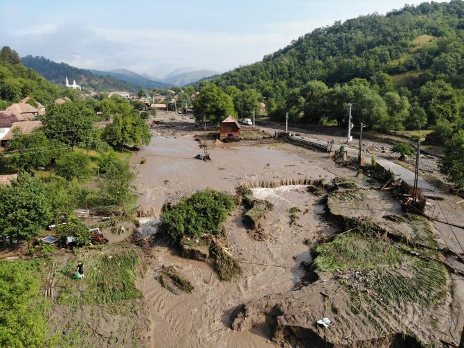 Un nou Cod portocaliu de inundații pentru 2 județe