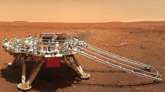 China a anunțat că roverul său Zhu Rong a parcurs 450 de metri pe Marte
