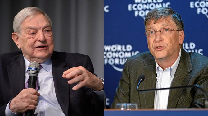 George Soros și Bill Gates