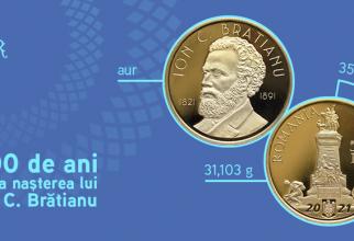 BNR lansează o monedă din AUR. Află cu ce ocazie