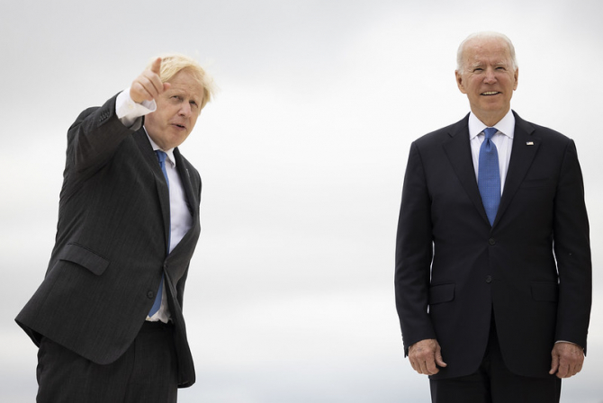 Boris Johnson a fost refuzat de Joe Biden