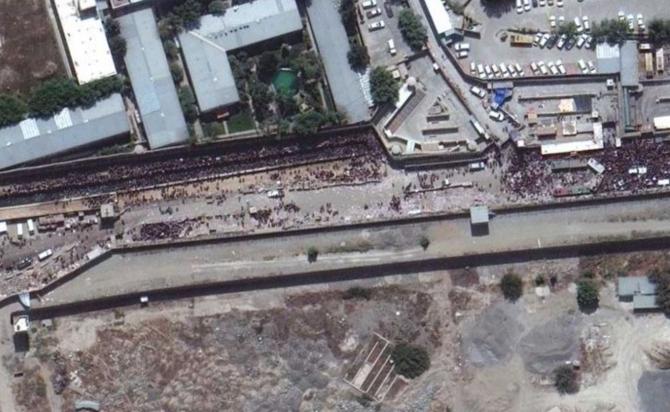Vedere aeriană a aeroportului din Kabul
