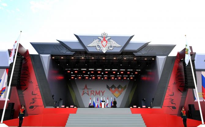 Vladimir Putin la evenimentul Army-2021 / Foto: kremlin.ru