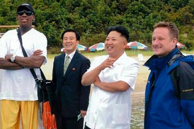 Dennis Rodman, Kim Jong-Un și Michael Spavor