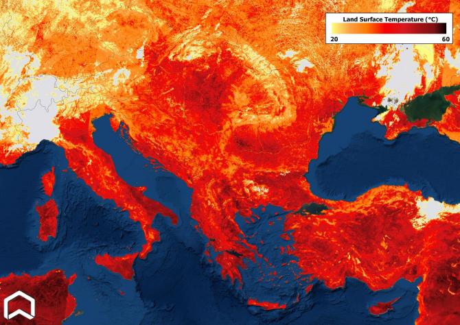 Temperaturi record în sudul Europei